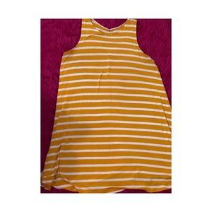Yellow and White Striped Swing Dress